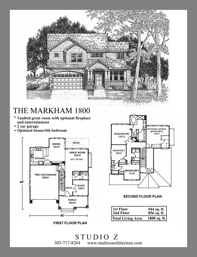 studio z architecture two story plans custom home design and 1800 sq house plan 2400 ft plans home - 1800 Sq Ft 2 Story House Plans